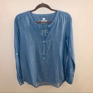 LOFT chambray blouse